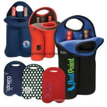 2016new Style Customized Neoprene Bottle Holder for Double Bottle, Neoprene Wine Bottle Cooler