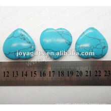 35MM Heart shape blue turquoise stone,high polished,high quality,natural heart shape stone