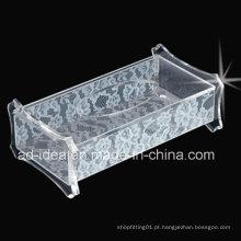 Caixa de exposição acrílica requintada / caixa acrílica clara da exposição (YT-27)