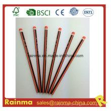 Dreieck Neon Farbe Barrel Hb Holz Bleistift Orange