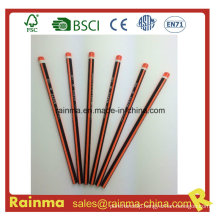 Triangle Neon Color Barrel Hb Wooden Pencil Orange