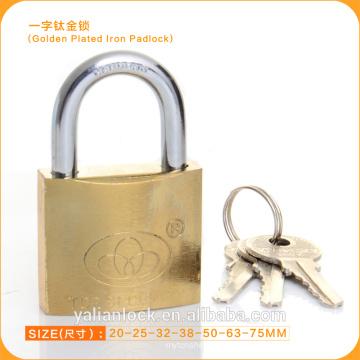 Cadeado dourado do preço barato do mercado de Ásia Cadeado