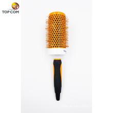 Cepillo de pelo plástico de nylon de la cerda del nuevo diseño del color anaranjado profesional vendedor caliente