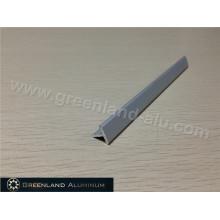 Perfil de perfil de aluminio en forma de T de plata de Matt Silver