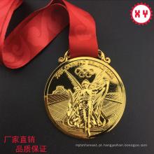Medalhas gravadas 3D feitas sob encomenda do esporte