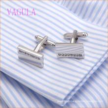 VAGULA Fashion Rhinestone Square Copper Cuff Link for Men