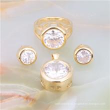 Conjunto de joyas de Arabia Saudita de latón joyería