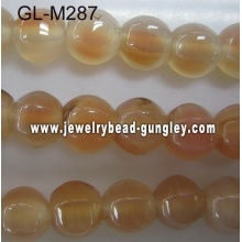 Lamp shape agate bead-natural pink