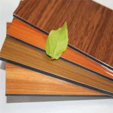 Rigid wood texture design aluminum composite panel for indoor wall