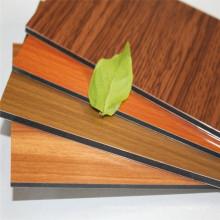 Жесткая текстура древесины дизайн алюминиевые композитные панели для внутренних стен