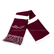 100% Acrylic Women Flag Knitted Scarf with Tassel