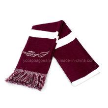 100% акрил женщин флаг связанный шарф с кисточкой