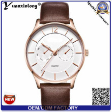 Yxl-436 Mechanical Stainless Steel Case Automatic Hands Mens Watches Japanese Movement Business Luxury Genuine Leather Men Watch