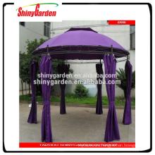 3.5m steel deluxe outdoor garden gazebo tent metal gazebo with side wall