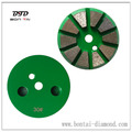 3 inch 10 diamond segments grinding disc, velcro backer