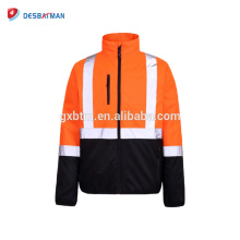 pilot jackets reflective high visibility winter jacket work jacket waterproof reflective stripes 3m