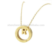 Wholesale Summer New Products 2015 Fashion Gold Stainless Steel Letter or Initial Pendants Necklaces Accessories Jewelry