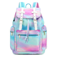 Pink Tie Dyed Cotton Canvas Women backpack