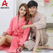 100% cotton fashion long sleeve comfortable bathrobe