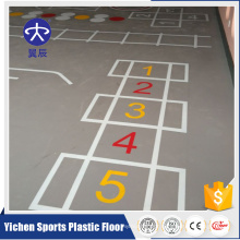 Alibaba China Supplier Coulorful Plastic Pvc Sports Flooring Basketball Flooring