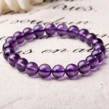 Fast Delivery for Pearl Bead Bracelet,Glass Bead Bracelet,Beaded Bracelets For Women Manufacturer in China Purple Crystal Beads Bracelet export to China Hong Kong Factory