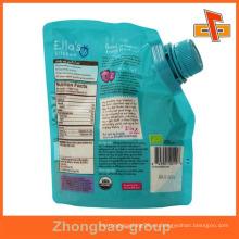 Eco amigable paquete de plástico con la parte superior del chorro para las bebidas de jalea