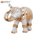 Vente chaude décoration à la maison ancienne résine antique grandes statues d'éléphants