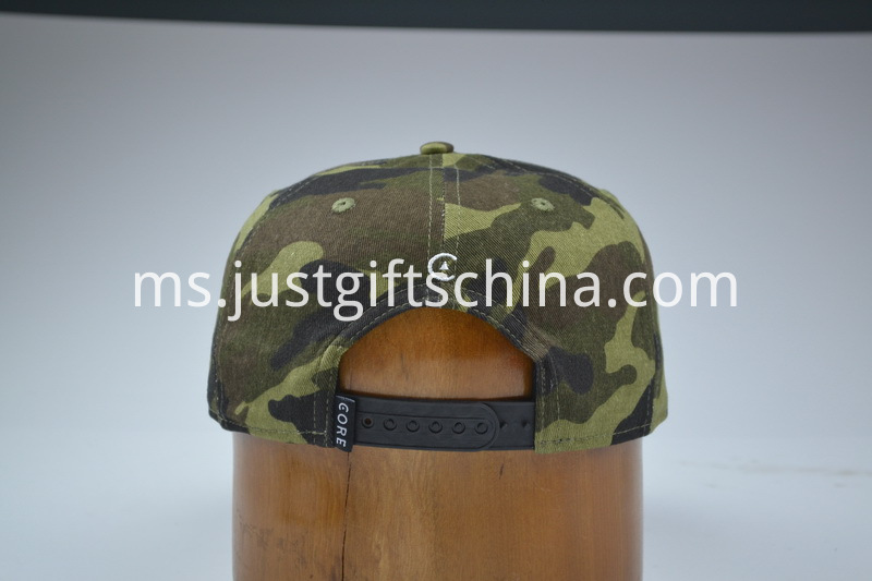 Custom Embroidered Snapback Cotton Cap Camouflage Colour (3)