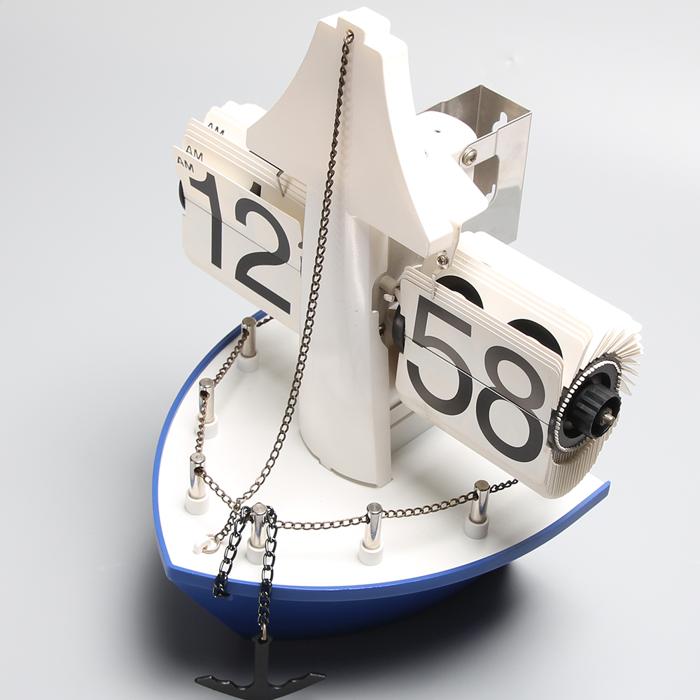 Ship Flip Clock for Table Decor
