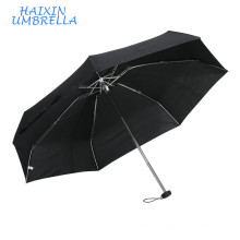 Cheap Pocket Size Euro-Market Logo Promotional Gift Black 5 Foldable Ultra Mini Aluminium Fashion Umbrella Women Umbrellars
