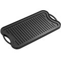 Plaque à frire robuste en fonte / plaque de cuisson / plaque de barbecue / plaque chauffante réversible