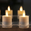 Environmental Rechargeable moving wick flameless Led Tea light Candles