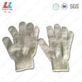 White heavy duty sponge bath gloves