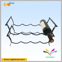 Factory direct sale custom metal detachable table counter antique wine bottle display stand