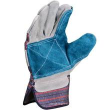Пользовательские античная-серебро рабочие перчатки с двойной кожи ладони и Тумак безопасности
