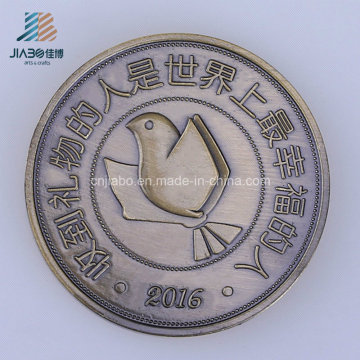 Die Casting Metal Craft Custom Logo Bronze Coin for Souvenir Gift
