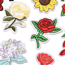 Applique Patch Rose Flower Embroidery Iron On Flower