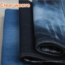 Sarja de algodão índigo / tecido denim preto