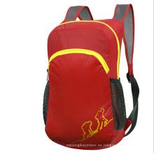 Bolsa plegable al aire libre, mochila roja para niños