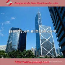 Design de aço inoxidável estrutural de alumínio para parede de cortina de vidro