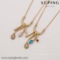 41939 gros xuping élégant collier en or 18K couleur diamant mode beau collier