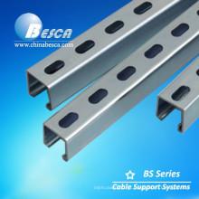 Canal de apoio de aço inoxidável galvanizado pre galvanizado elétrico do suporte 316L Uni do mergulho quente com braçadeiras de tubulação
