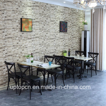 Modern Dining X Back Chair Wood and Table for Restaurant (SP-CT843)