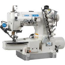 Machine à coudre Interlock Zuker Pegasus haute vitesse informatisé à entraînement Direct cylindre-lit avec Auto-Trimmer (DA ZK600-01)
