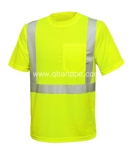 high visibility new design 3m safety tshirt