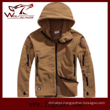 Winter Coldproof Fleece Jackets Outdoor Windproof Jackets Fashion Men Jackets Tan