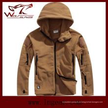 Winter Coldproof Fleece Jacken Outdoor winddichte Jacken Mode Herren Jacken Tan