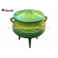 three-legs south African pot with cast iron enamel coating
