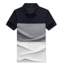 Benutzerdefinierte Farbe Kombination Pique Baumwolle Polo-Shirt