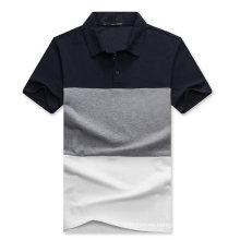 Camisa de polo de algodón piqué de combinación de colores personalizada